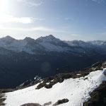 Blick auf die Gipfel rund um die Rappenseehütte