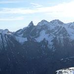 Blick zur Trettachspitze,Mädelegabel und Hochfrottspitze