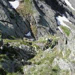Abstieg vom Gipfel