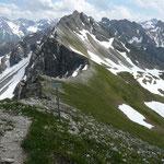 Gratweg zwischen Schüsser und Hochgehrenspitze