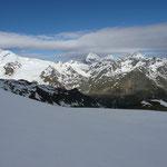 Blick zur Königsspitze,Zebru und Ortler