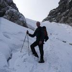 Abstieg in der Kalten Winkel Scharte