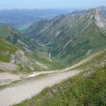Gerstrubener Tal mit Älpelesattel und Südsüdostgrat
