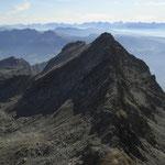 Blick von der Lazinser Rötelspitze auf den Westgrat des Tschigat