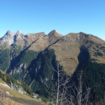 Blick vom Muttekopf zur Jöchlspitze,Rothorn,Strahlhorn und Krottenkopf