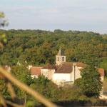 derrière les arbustes sur le chemin de Cahors
