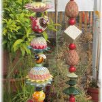 neue Gartenstele und Toskanastele