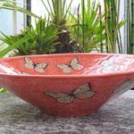 Dekoschale mit Siebdruck-Schmetterlingen