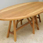 Elliptical LA table, 240 x 130