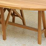 Elliptical LA table, 240 x 130