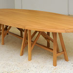 Elliptical LA table, 350 x 150