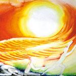 KH-W7-Heilung: Die Sonne der Gerechtigkeit geht auf mit Heilung unter ihren Flügeln.