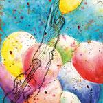 KH-B5-Ballons: Unsere Anbetung, Liebe und Freude ist wie ein Strauß bunter Ballons für Gott.