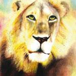 KH-W8-LoeweLamm: Jesus - der Löwe und das Lamm (Pupillen in Lammform)