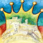 """KH-J4 Jerusalem Krone: """"Und du, Jerusalem, wirst sein eine schöne Krone in der Hand des HERRN ..."""" (Jesaja 62,3)"""