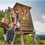 Horn: Franz Heiligensetzer, Andreas Schuh, Johannes Kerpf und Sonja Heiligensetzer (v.l.n.r.)
