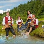 Saxophon: Oliver Weber, Evi Wegscheider, Stefanie Wanka, Oswald Gast (v.l.n.r.)