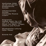 Flyer für das Karfreitagskonzert des Vokalensembles