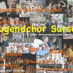 Werbefyler für den Jugendchor Sursee