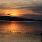 Sonnenuntergang in Sempach.