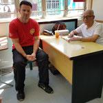 mit Sigung IP Chun in der VTAA in Hongkong beim Austausch