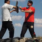 Bart Cham Dao Samuel Kwok und Markus Schinhammer private Training