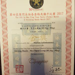 Champion of Hongkong 2017 Urkunde