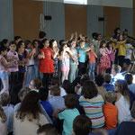 Singen unserer Schulhymne