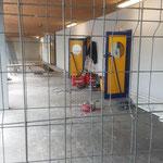 Baustelle bei den Kindertoiletten und ...