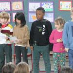 Die Adler-Klasse hat drei Gedichte vorgetragen.