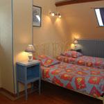 La chambre avec lits jumeaux