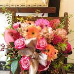 [AL5506]    税込6,050円(本体5,500円)   w50cm/h45cm  ピンク系アレンジ