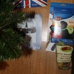 ganz rechts sind meine Geschenke vom Weihnachtsmann...