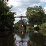 die Holzzugbrücke Briescht