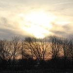 komischer Sonnenaufgang...