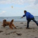 mein athletischer Astralkörper liebt die sportliche Betätigung am Strand