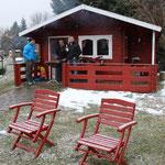 Angrillen im Schnee