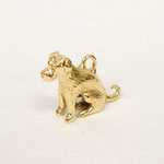 Custom 18 kt yellow gold charm.