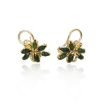 These earrings are a reproduction using 100% recycled gold.
