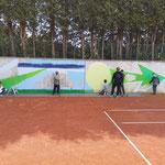 Malaktion mit den SCK Tennis-Kids