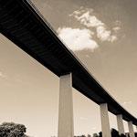 """Mintarder Ruhrtalbrücke (7-328452) B+W"" - Copyright by Franz Walter"