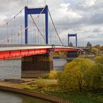 """""""Friedrich-Ebert-Brücke DU (7-17432)"""" - Copyright by Franz Walter - Friedrich-Ebert-Brücke über den Rhein - Duisburg"""