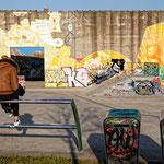 """2019-02-24 - """"RheinPark Duisburg - Skateanlage (7-07922)"""" -  Route der Industriekultur - Copyright by Franz Walter"""