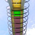 """2018-02-10 - """"Slinky Springs To Fame (7-13942)"""" - Begehbare Brückenskulptur des Künstlers Tobias Rehberger im Kaisergarten Oberhausen - Copyright by Franz Walter"""