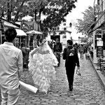 Mariée aux pieds nus