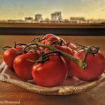 grappe de tomates rouges