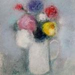 Flowers in a jug. Букет в кувшине 2018 г. бумага, смеш. техн. 35х27 см.