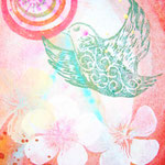 「楽園」    木版×水彩×和紙      148×180mm  Box一体型 2009