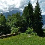 Alpe Stein: Blick zur Hangspitze