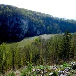 Donaudurchbruch vom Plateau auf der Langen Wand